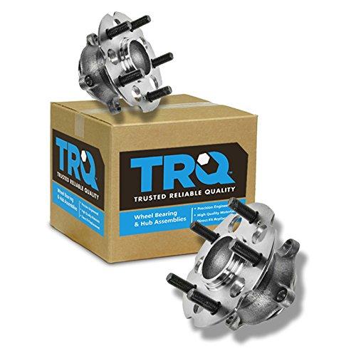TRQ Rear Wheel Hub & Bearing Pair Set for 05-10 Honda ()