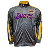 Los Angeles Lakers Majestic Full Zip Tricot Track Jacket Size LT