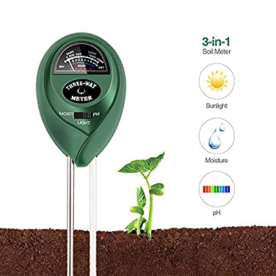 BAIYI Kitchenware Soil pH Meter 3-in-1 Soil Test Kit For Moisture,Light & pH,Great For Garden,Farm, Lawn,Plants,Herbs & Gardening Tools,Indoor & Outdoor Plant Care Soil Tester(No Battery needed)