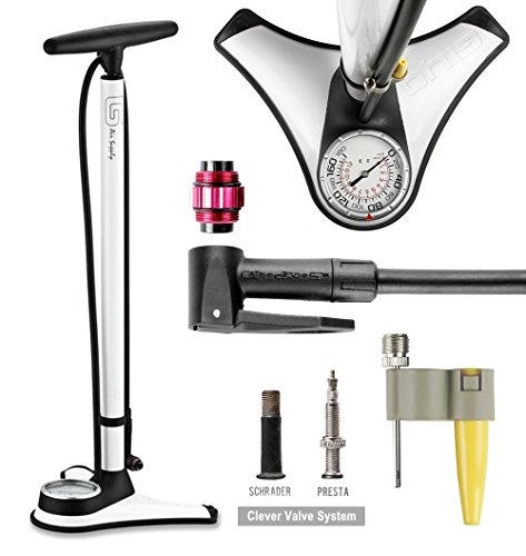 GIYO High Pressure Bicycle Bike Floor Pump W/TOP-Mounted Gauge 180 PSI price