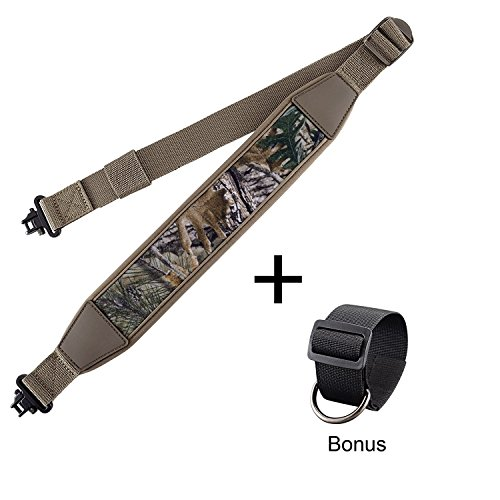 Rifle Gun Sling with Mil-Spec Swivels,Durable Shoulder Padded Strap,Length Adjuster by BOOSTEADY