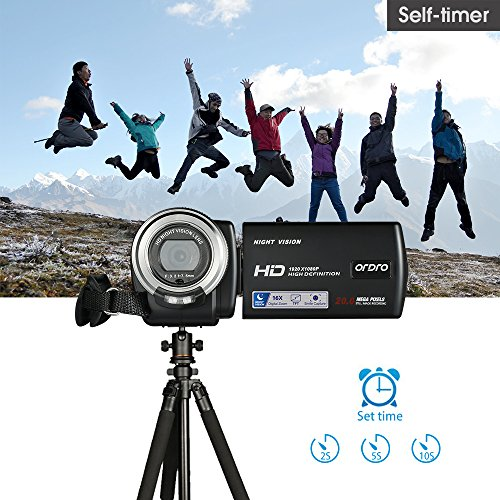 ORDRO HD Camcorder 1080P 30FPS 20MP Infrared Night Vision Digital Video Camera by ORDRO (Image #2)
