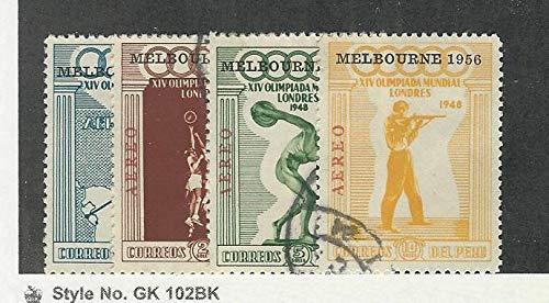 Peru, Postage Stamp, C78a-C81a Melbourne Used, 1948 Olympics, JFZ