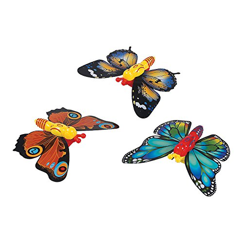 (Fun Express Butterfly Party Favors Wind Up Toys, 12 Count)