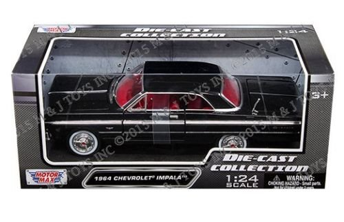Chevrolet Impala Hardtop - New 1:24 W/B AMERICAN CLASSICS COLLECTION - BLACK 1964 CHEVROLET IMPALA HARDTOP Diecast Model Car By MOTOR MAX