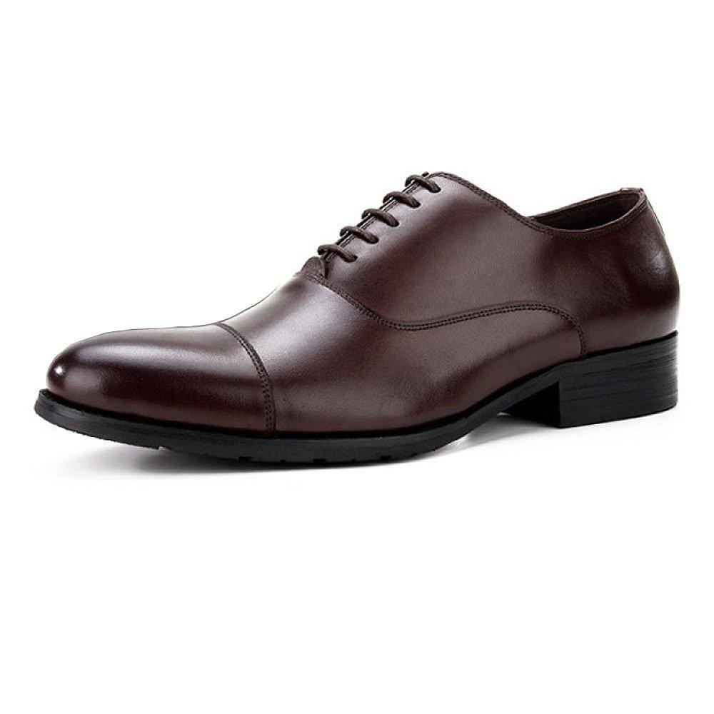 LYZGF Männer Gentleman Business Casual Fashion Hochzeit Spitze Jugend Leder Schuhe