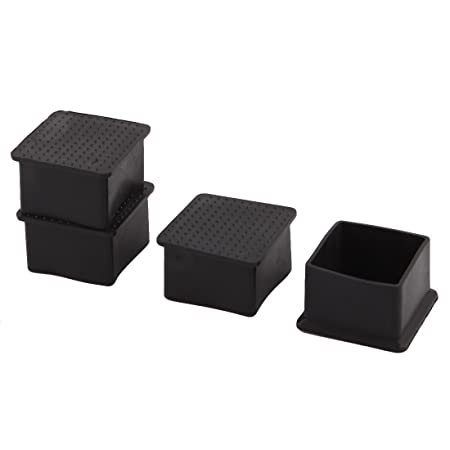 Sourcingmap Rubber Square Shape Furniture Chair Table Leg Foot