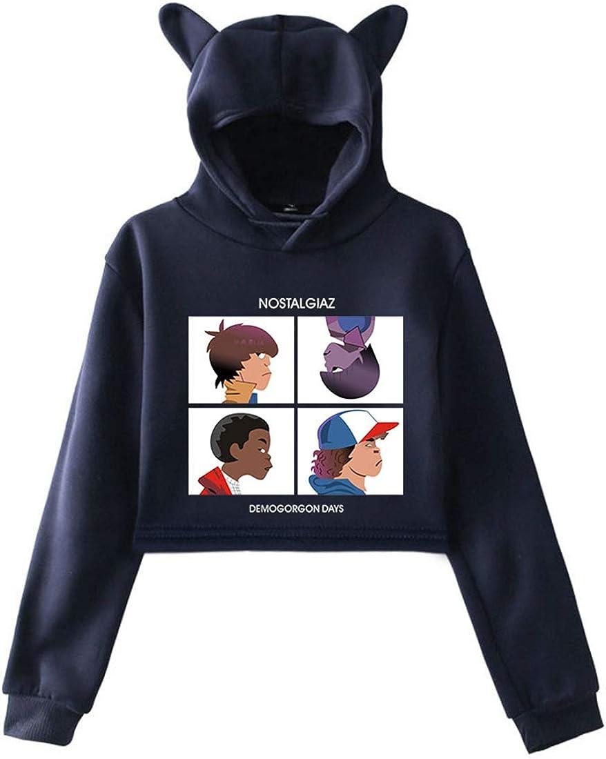 FLYCHEN Ragazze e Bambine Felpa con Cappuccio Stampa Logo e Grafico di Stranger Things 3 Felpa Eleven Fans a Tinta Unita Casuale