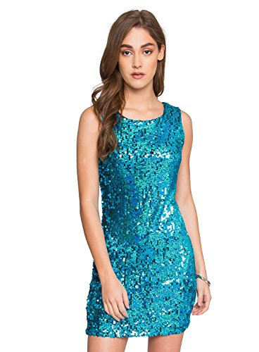 Wet Seal Party Animal Sequin Dress,Large,Blue