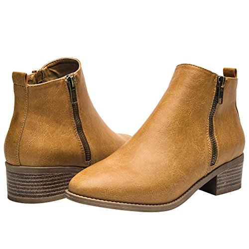 Ankle-Boots-for-Women-Short-Boots-for-Ladies-wLow-Chunky-Block-Stacked-Heels-Round-Toe-Slip-on-Ankle-Boots-for-Girls-Black-Brown-Khaki-Women-Shoes