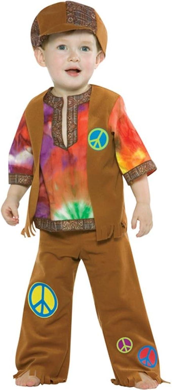 A/&J DESIGN Kids Boys 60s Hippie Fancy Costume Set Peace Love
