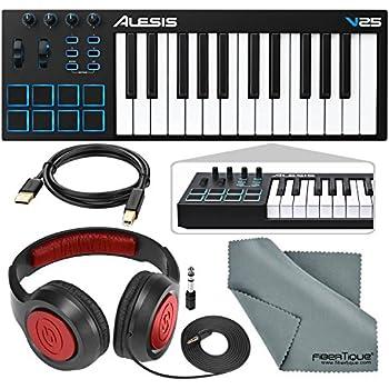 Amazon com: Alesis V25 25-Key USB MIDI Keyboard Controller