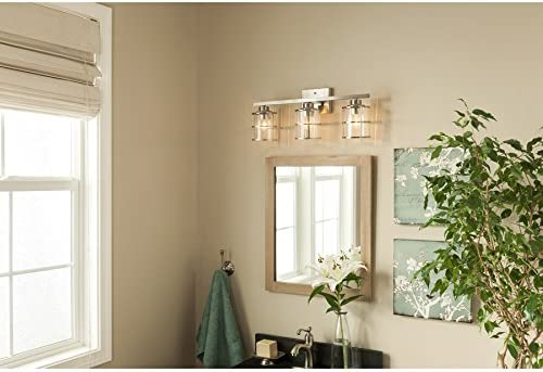 allen + roth 3-Light Kenross Brushed Nickel Bathroom Vanity Light ...