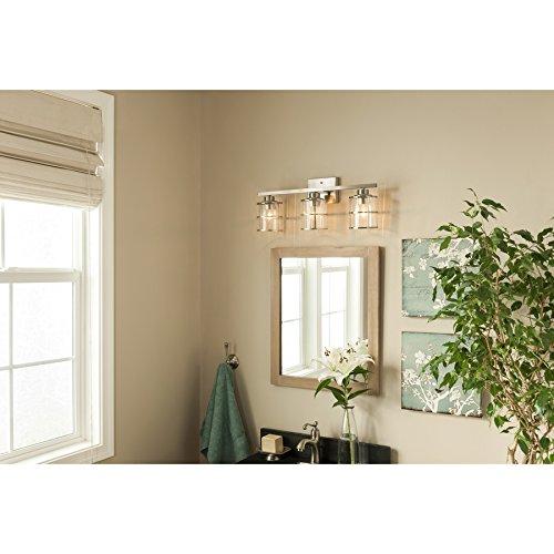 allen + roth 3-Light Kenross Brushed Nickel Bathroom Vanity Light by allen + roth (Image #1)