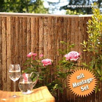 Cañizo de corteza con correas de fijación 50: Amazon.es: Jardín