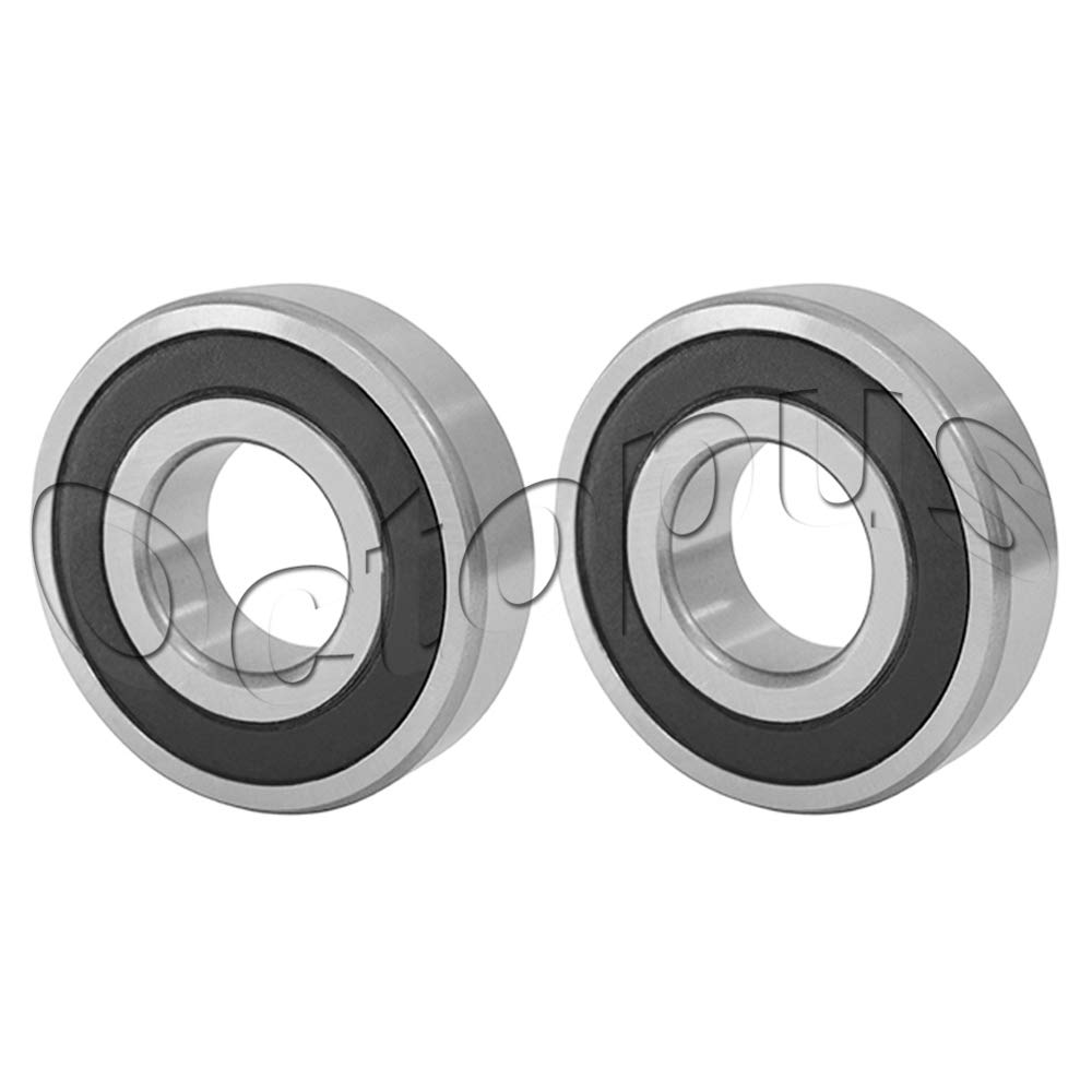 Row Angular Contact Ball Bearing 25x52x21mm Premium 5205 2RS ABEC 1 Double