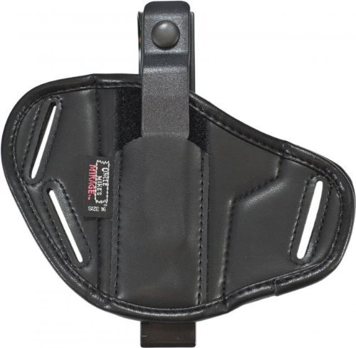 Uncle Mike's Off-Duty and Concealment Mirage Plain Super Belt Slide Holster (Size 16, Black)