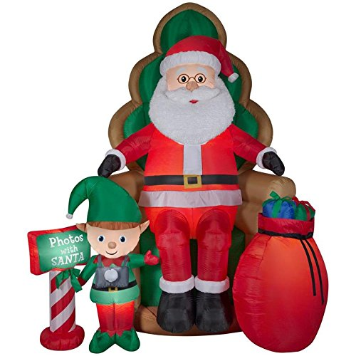 Outdoor Lighted Christmas Elves in US - 6