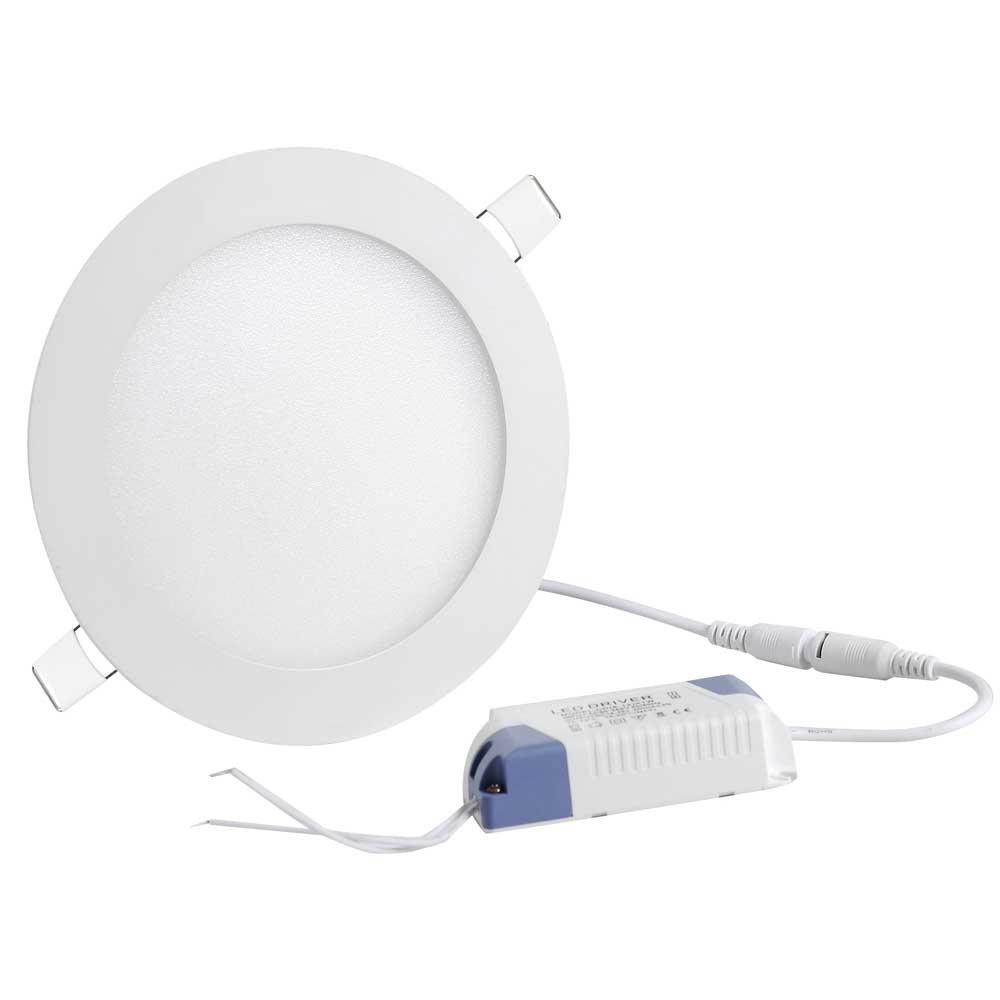 DELight 9W 5-3/4''Ultra-thin Round LED Panel Light, 6000-6500K, 720 Lumens, 60W Equivalent, LED Ceiling Light, 10 Pack