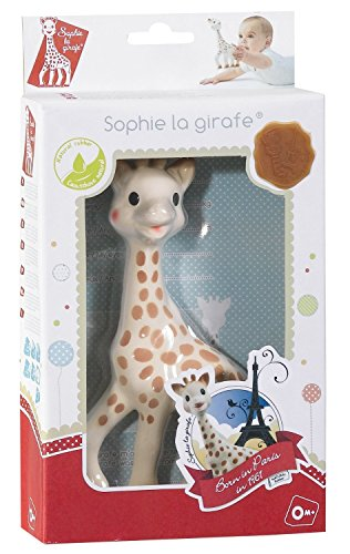 Giraffe Teether, Brown/White