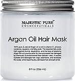 Moroccanoil Restorative Hair Mask Argan Oil Hair Mask from Majestic Pure, 8 fl. oz - Natural Hair Care Product, Hydrating & Restorative Hair Repair Mask