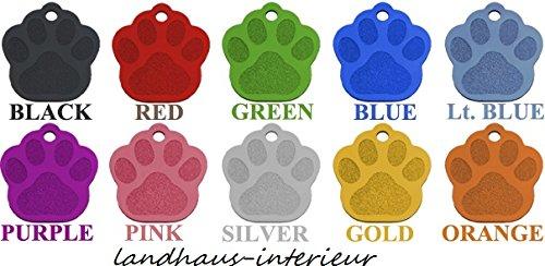 2 x Kleine Aluminium Hundemarken/Hundemarke mit Befestigungsring Motiv