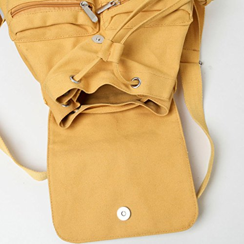 Teenager Female Travel Colors Bag Backpack Yellow School yellow Cute Candy Dabixx Girls Casual Canvas nY4w6vx1q