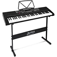 ALPHA 61 Keys Electronic Piano Keyboard Portable Battery Electric Piano with USB Input, Headphone Output, Adaptor…