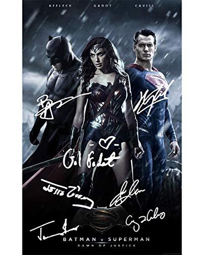 BATMAN V SUPERMAN Signed REPRINT 8x10 inch photograph Reprinted from Original HENRY CAVILL BEN AFFLECK GAL GADOT