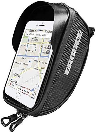 1L自転車の携帯電話バッグ、マウンテンバイクのフロントビームパッケージ、炭素繊維材料、防水