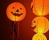 Charmed 10 inch halloween jack o lantern pumpkin paper lanterns orange (10 count)