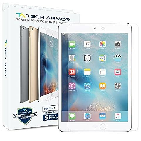iPad Mini 4 Glass Screen Protector, Tech Armor Premium Ballistic Glass Apple iPad Mini 4 Screen Protectors (Screen Protector For Mini Ipad 1)