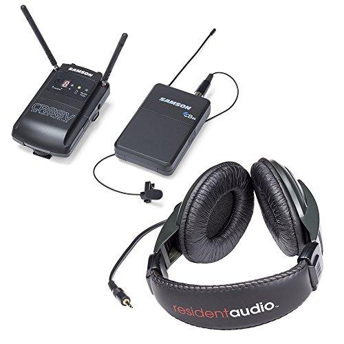 Camera Uhf Wireless System - Samson Concert 88 Camera (Lavalier) UHF Wireless System, Channel D w/ Resident Audio R100 Headphones