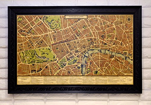 Grand Map of London for Diplomats and Merchants: Canvas Print Scroll Map -