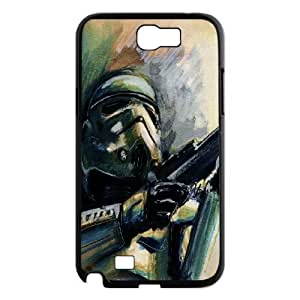 Stormtrooper Series, Samsung Galaxy Note 2 Case, Watercolour Star Wars Case for Samsung Galaxy Note 2 [Black]
