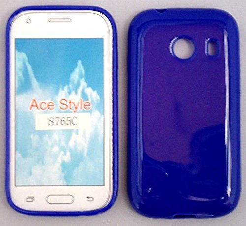TPU Gel Blue Phone Case Cover for Samsung Galaxy Ace Style / S765C SM-S765C / Samsung Stardust/SM-S766C S766c (Samsung Ace Style Phone Covers)
