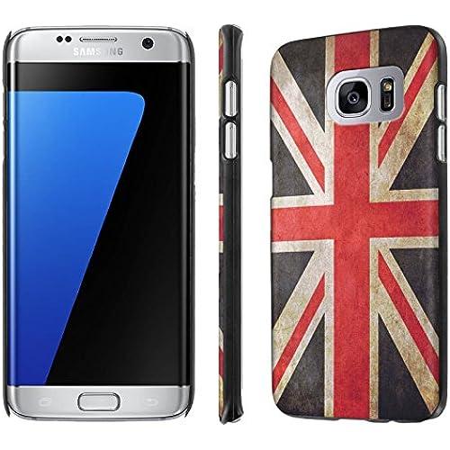 Galaxy [S7 Edge] [5.5 Screen] Phone Case [NakedShield] [Black] Ultra-Slim Jacket Cover Case - [Flag United Kingdom] for Samsung Galaxy [S7 Edge] [GS7 Edge] Sales