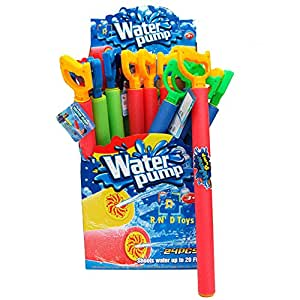 """24 Super XXL 38"""" Blade Blaster Foam Water Gun Soaker, Easy Light Weight Water Shooter With Handle (Colors May Vary) - Pool Party Supplies, Favors, Gifts, Toys"""