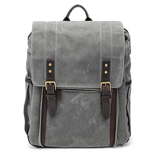 ONA - The Camps Bay - Camera Backpack - Smoke Waxed Canvas (ONA5-008GR)
