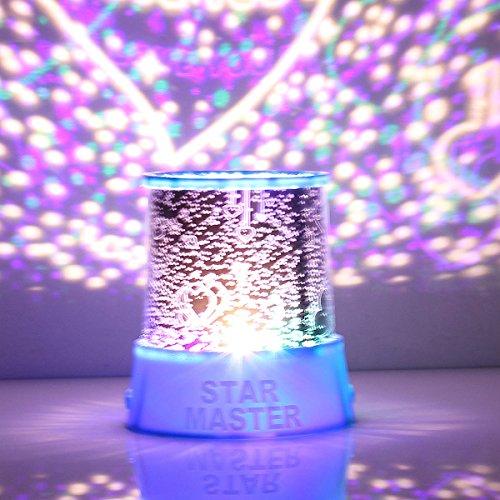 AUDEW Romantic Star Sky Christmas Gift Master Starry Night Love Projector Lamp Light Gift Decor