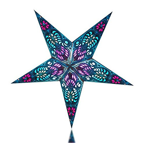 Happy-Sales-HSSL-FABLUA-Frozen-Aurora-Paper-Star-Lantern-Blue