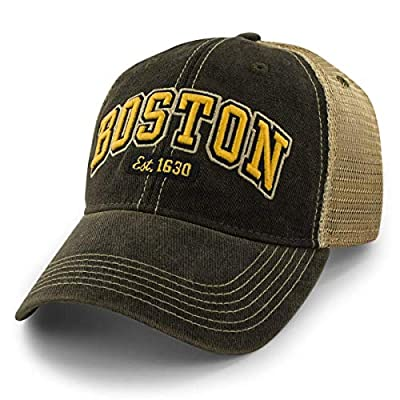 Chowdaheadz Boston Black & Gold Arch Dirty Water Trucker