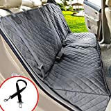 Henkelion Dog Seat Cover Back Seat Covers for Dogs,100% Waterproof Nonslip Bench Dog Car Seat Cover for Cars with Armrest Fits Cars Trusks SUVs Grey Review