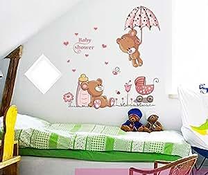 Ufengke osos lindos del beb y flores paraguas pegatinas for Pegatinas habitacion nino