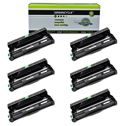 GREENCYCLE 6 Pack Compatible Brother DR420 Drum Unit Black High Yield for HL-2240D HL-2270DW HL-2280DW MFC-7360N MFC-7460DN MFC-7860DW Printer