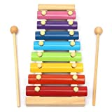 timeracing Kids Baby Toys 8 Notes Musical Xylophone Piano Multicolor Wooden Instrument Toy Children Intellection Toys