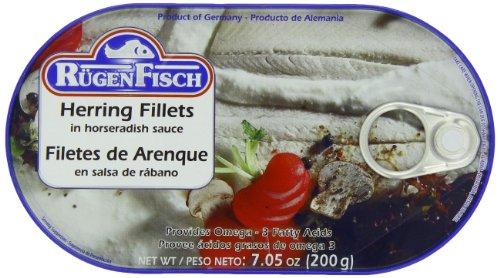 (RügenFisch Herring Fillets in Horseradish Sauce, 7.05 Ounce)