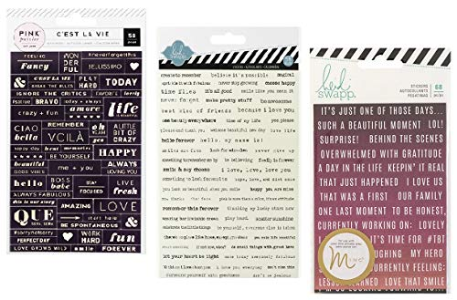 - 182 Inspirational Theme Word Stickers with Motivational Quote and Positive Affirmations | for Bullet Journaling, Planner, Scrapbooking, Travel Journal | Set of 3 Packs