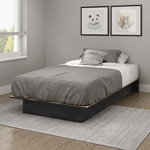 South Shore Libra Twin Platform Bed (39''), Gray Oak
