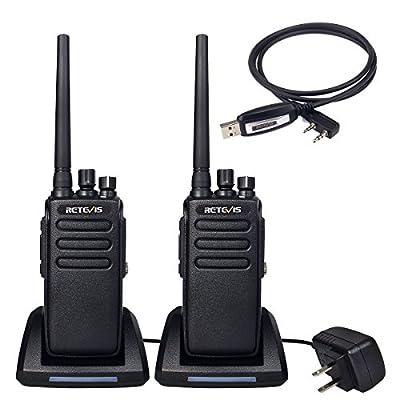 Retevis RT81 2 Way Radio 10W Ham Radio IP67 Waterproof UHF Radio 400-470 MHz 32 Channel Walkie Talkies(2 Pack) with Programming Cable(1 Pack)